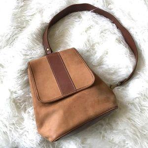McGuire NicholasBrown nubuck leather mini backpack